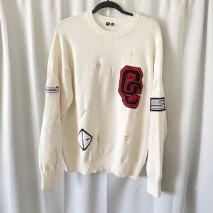 Opening Ceremony Destroyed Patches Logo Sweater